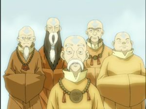 who was the monk that tryed to help Aang