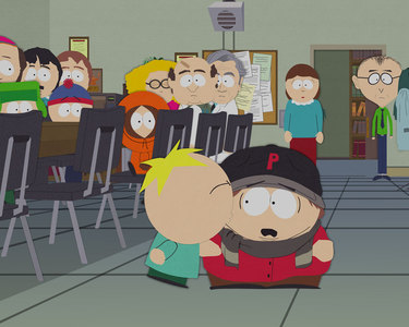 Who performs at Cartman's AIDS benefit in 'Tonsil Trouble'?