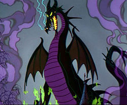 What Maleficent say to Philip when she turned into a dragon?