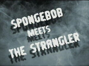 In the strangeler episode, where was the strangler's fake mustache from?