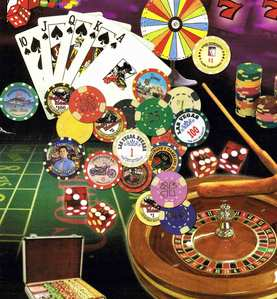 At midnight, Oct. 1, 1910, a strict anti-gambling law became effective in Nevada. How long did it last in Vegas?