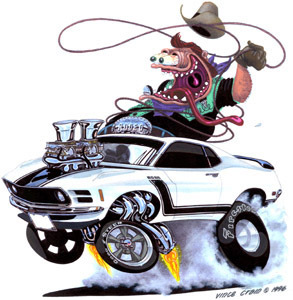Funny American Laws - In Illinois, the law is that a car must be driven with the _________ .