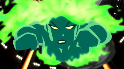 Green Fire Superhero