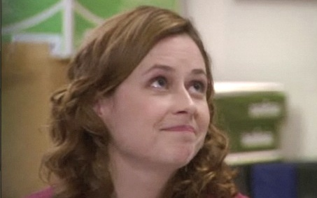 PICTURE THIS! In which episode does Pam give this look?