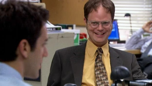 PICTURE THIS: Why is Dwight so happy in this scene?