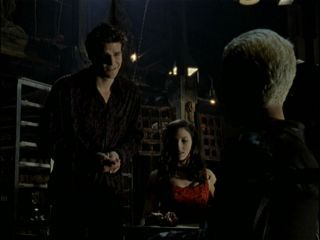 "What does Angelus give Drusilla as a present in episode ""Bewitched, Bothered and Bewildered""?"