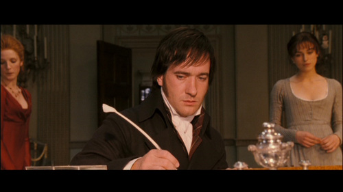 GIVE THE MOVIE (2005) RESPONSE! Miss Bingley: How shall we punish him for such a speech?