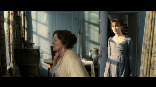 GIVE THE MOVIE (2005) RESPONSE: Mrs. Bennet: A daughter married! / Lizzie: Is that really all you think about?