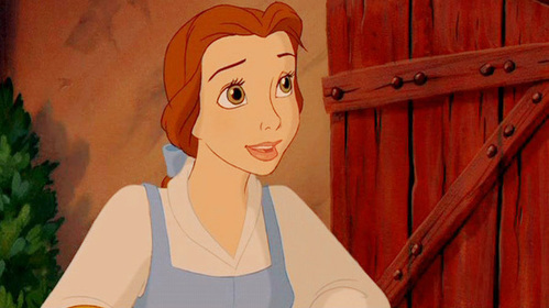 Who is the first person to speak to Belle in the film?