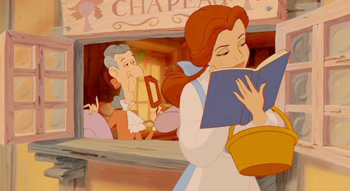 In which chapter of Belle's favorite book will the heroine realize the man she has met is Prince Charming?