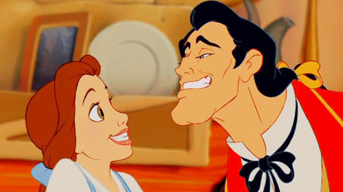 "How does Gaston describe his and Belle's ""perfect"" life together?"