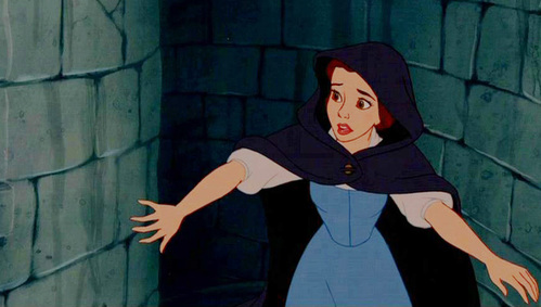 Who is/are the first character(s) to realize that Belle is in the castle?