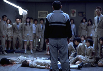 Who does Class 3's teacher, Kitano, ask to kill him, as who does finally end his life?
