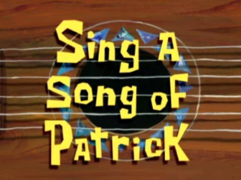 "Which of these lyrics are NOT part of Patrick's song, ""Twinkle, Twinkle, Patrick Star""?"