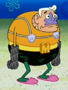 What colour are Mermaid Man's gloves?