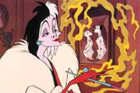 What was the name of the woman that did the voice of Cruella in the animated 101 Dalmatians?
