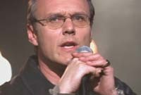 In which episode do we see Giles singing at The Espresso Pump?