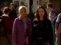 "How does Buffy respond when Faith says, ""Thank God we're hot chicks with Super Powers!""?"