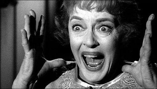 """This is a scene from the 1964 Bette Davis movie """"Hush,Hush...Sweet Charlotte."""" What has Bette just seen?"""