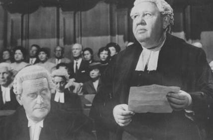 This is actor Charles Laughton playing a lawyer in which film?