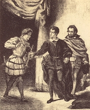 How does Hamlet deal with his disloyal friends Rosencrantz and Guildenstern?