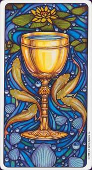 Every suit of the Minor Arcana of the tarot corresponds to one of the suits in an ordinary deck of playing cards. What suit do the Cups correspond with?