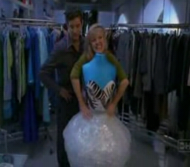 Which designer provided inspiration for the dress shown below, featured in the episode 'Derailed'?