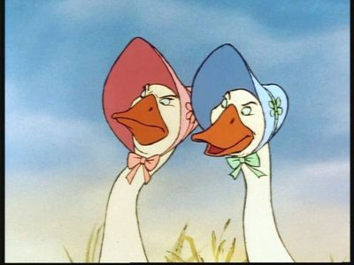 NAME THE SIDEKICKS: These sisters enjoy sharing their abundant knowledge on being proper English geese with everyone, even when it's not wanted.