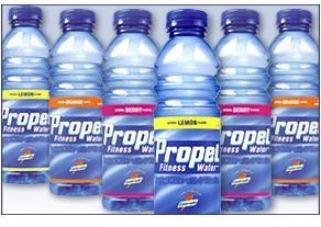 what is hilarie's favorite flavor or propel water?