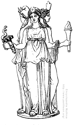 Who is this triple goddess of the crossroads? She is often seen with a three headed white dog.