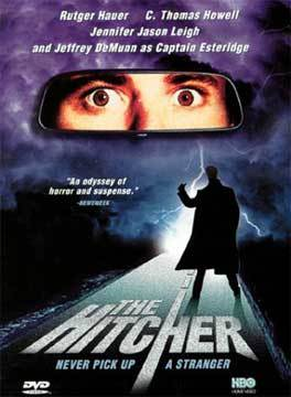 REST IN PEACE: In the 1986 film 'The Hitcher,' how does Jennifer Jason Leigh's character meet her doom?