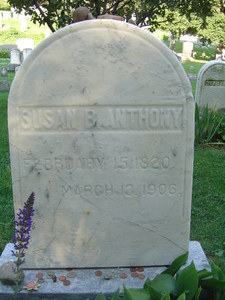 Where is Susan B. Anthony, a pioneer for women's rights, buried?