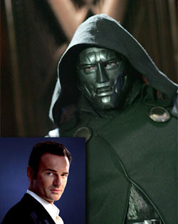 Fantastic 4 movie question: Why does Dr. Doom wear a mask/helment?