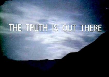What is the tagline to Improbable? (Instead of The Truth Is Out There)
