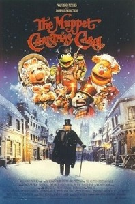 Who played Scrooge in the Christmas  film, The Muppet Christmas Carol?