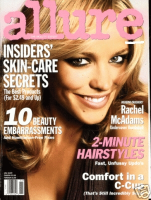 Rachel appeared on the cover of the ________ issue of Allure magazine