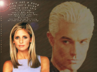 What song in Once More With Feeling did Spike sing the words in the fanart below to Buffy in?