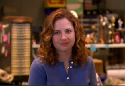 How much does Pam weigh at the beginning of 'Weight Loss'?