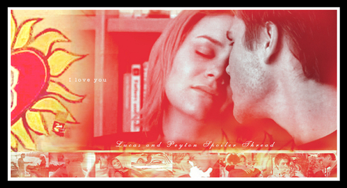 What did Peyton say before she kissed Lucas in the perpustakaan during episode 3.16, before she berkata come here?