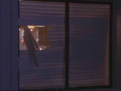 In season 1 at Nathan and Haley's party, who threw a bar стул threw the window and broke it?