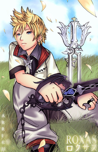 Which were the two Keyblades Roxas was holding to the fight with Axel at the Haunted Mansion;
