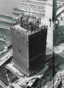 When were plans to build the World Trade Center announced?