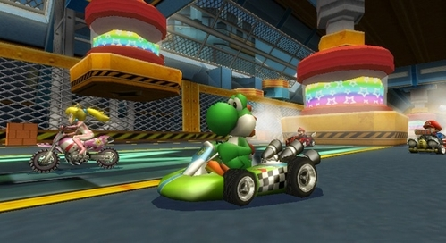 From which Mario Kart Wii track is this screenshot?
