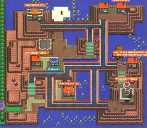 Which Johto gym leader is seen in this Sinnoh city?