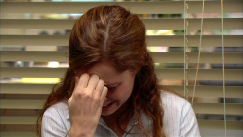 Of these people, who has NOT seen Pam cry?