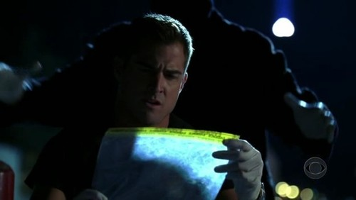 Grave Danger Trivia: What is in the evidence bag Nick is holding in this image?