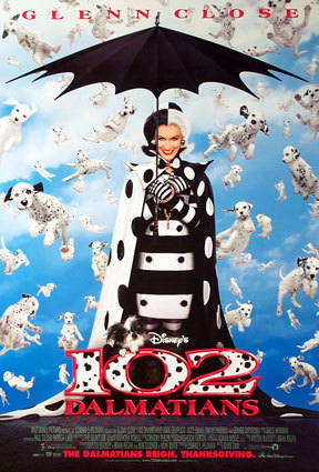 true/false Glen Close was one of only two actors from the original 101 Dalmatians film to play in the sequel 102 Dalmatians?