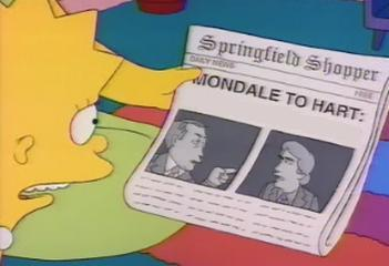 What was the headline of the Springfield Shopper the day Lisa was born?