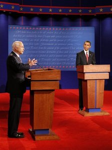 Who was the moderator of the first Presidential debate (9-26-08)?