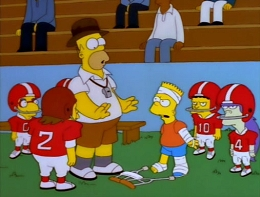 What is the name of Springfield's PeeWee football team?